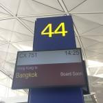 香港国際空港でバンコク行きCX751に乗り継ぎ