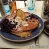 ニューヨークのカフェ 甘さ控えめのブルーベリーパンケーキ
