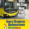 クイーンズタウン 空港と市内を格安で移動するバスの利用方法