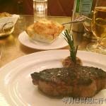 ニューヨークで絶品の味付けと焼き具合のステーキを食す
